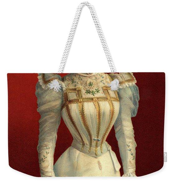 1890s Portrait Of Her Majesty Queen Weekender Tote Bag