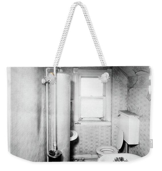 1900s Gas Water Heater In Narrow Weekender Tote Bag