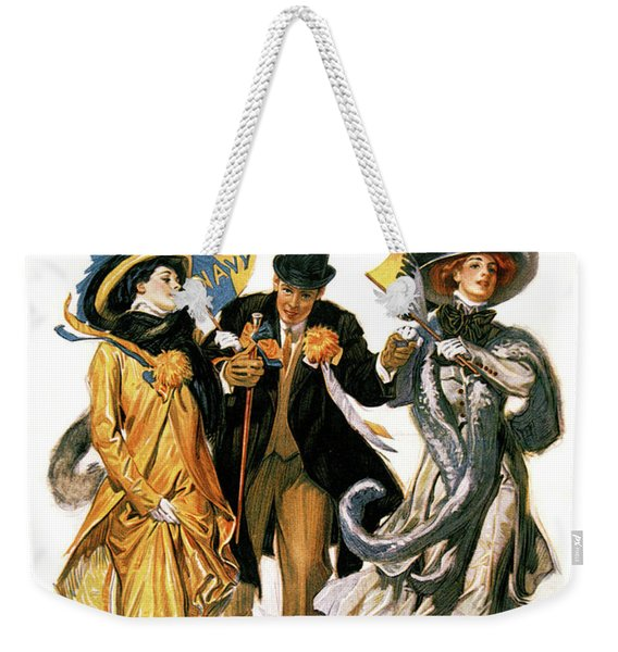 1900s Stylish Man With Two Women Weekender Tote Bag