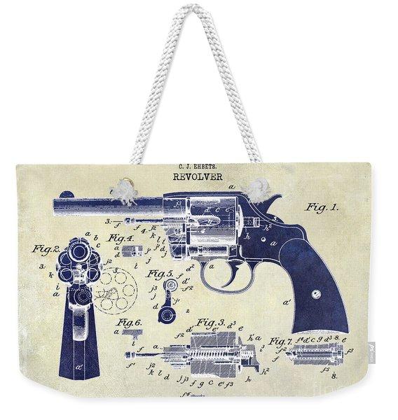 1903 Colt Revolver Patent Drawing 2 Tone Weekender Tote Bag