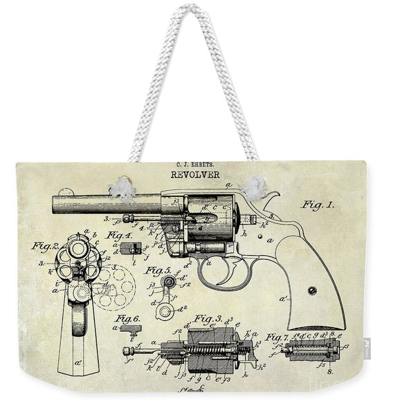 1903 Colt Revolver Patent Drawing Weekender Tote Bag