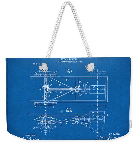 1903 Henry Ford Model T Patent Blueprint Weekender Tote Bag