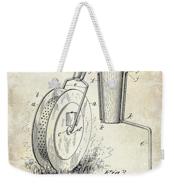 1903 Tennis Court Marker Patent Drawing Weekender Tote Bag