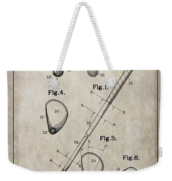 1910 Golf Club Patent Weekender Tote Bag