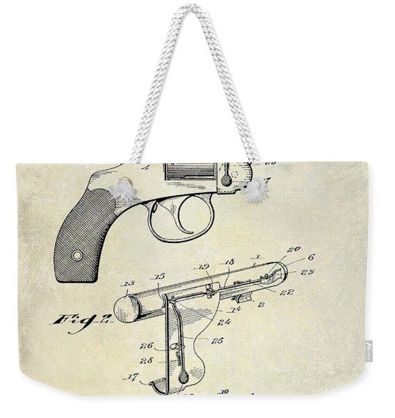 1914 Revolver Light Patent Drawing Weekender Tote Bag