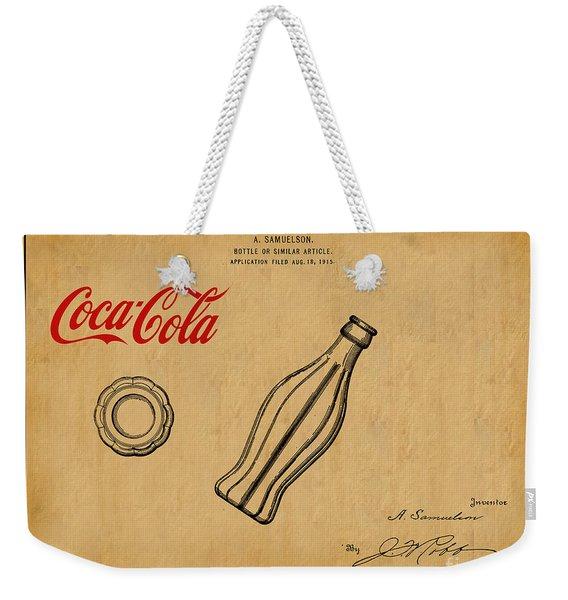 1915 Coca Cola Bottle Design Patent Art 1 Weekender Tote Bag