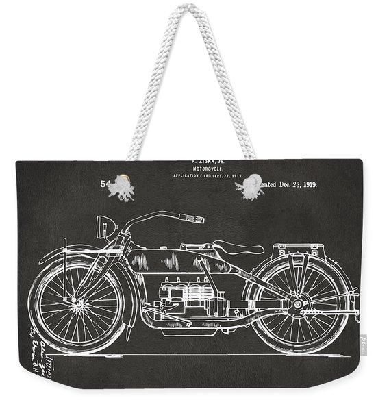 1919 Motorcycle Patent Artwork - Gray Weekender Tote Bag