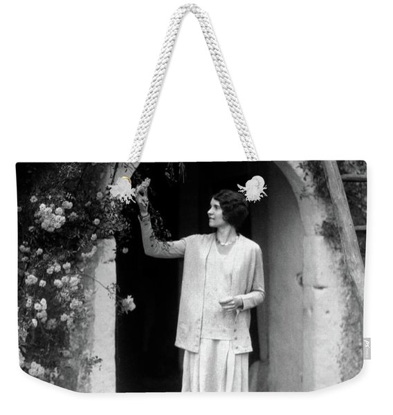 1920s 1930s Woman In Flapper Outfit Weekender Tote Bag