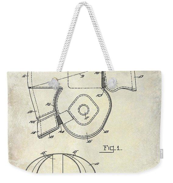 1925 Football Helmet Patent Drawing Weekender Tote Bag