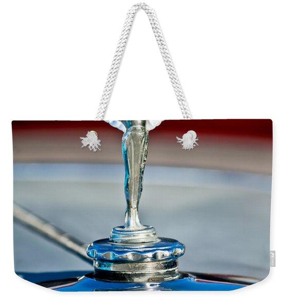 1928 Nash Coupe Hood Ornament 2 Weekender Tote Bag