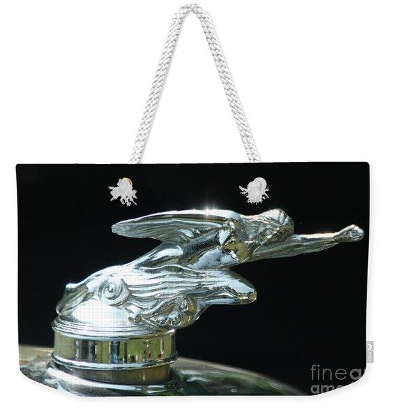 1928 Studebaker Hood Ornament Weekender Tote Bag