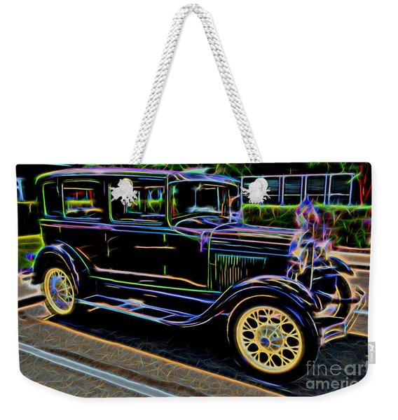 1929 Ford Model A - Antique Car Weekender Tote Bag