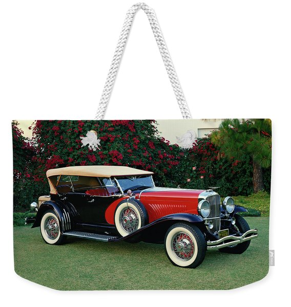 1930 Duesenberg Model-j Dual Cowl Sweep Weekender Tote Bag