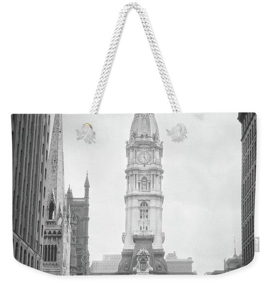1930s 1936 View Down North Broad Street Weekender Tote Bag