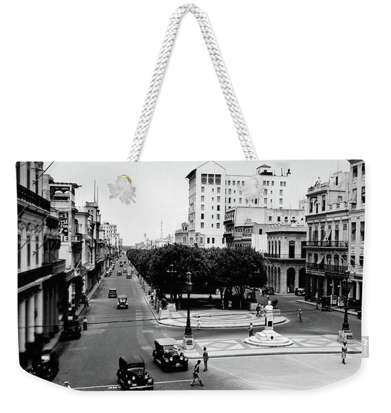 1930s 1940s Street Scene Of The Prado Weekender Tote Bag