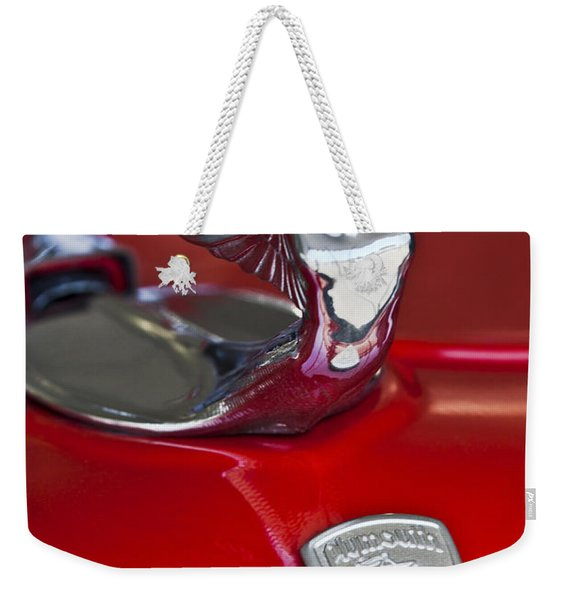 1933 Plymouth Hood Ornament Weekender Tote Bag