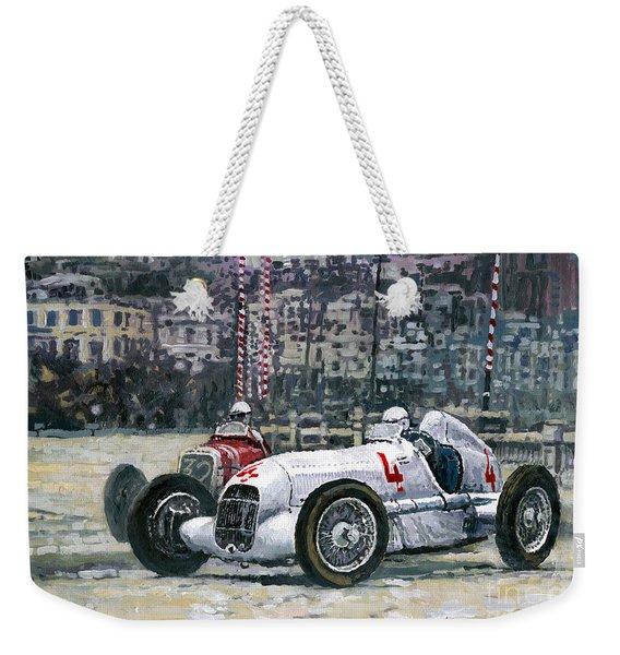 1935 Monaco Gp Mercedes-benz W25 #4 L. Fagioli Winner  Weekender Tote Bag