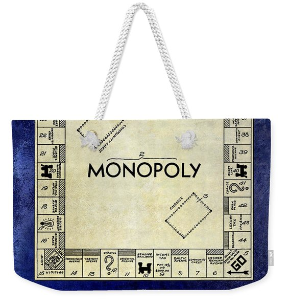 1935 Monopoly Patent Drawing 2 Tone Blue Weekender Tote Bag