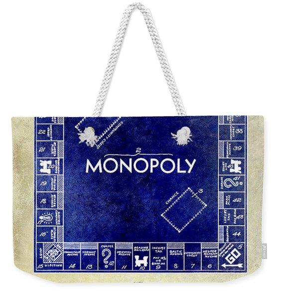1935 Monopoly Patent Drawing 2 Tone  Weekender Tote Bag