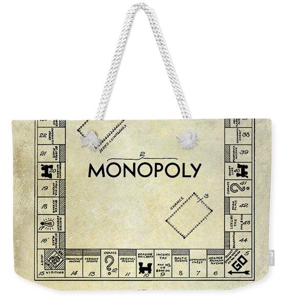 1935 Monopoly Patent Drawing Weekender Tote Bag