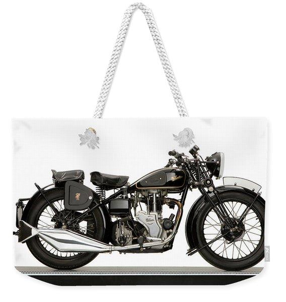1938 Velocette Mac 350 Motorcycle Weekender Tote Bag