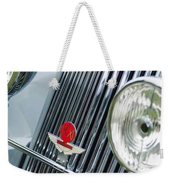 1939 Aston Martin 15-98 Abbey Coachworks Swb Sports Grille Emblems Weekender Tote Bag
