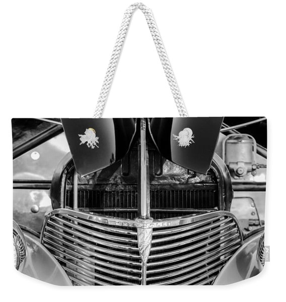1939 Chevrolet Coupe Grille -115bw Weekender Tote Bag