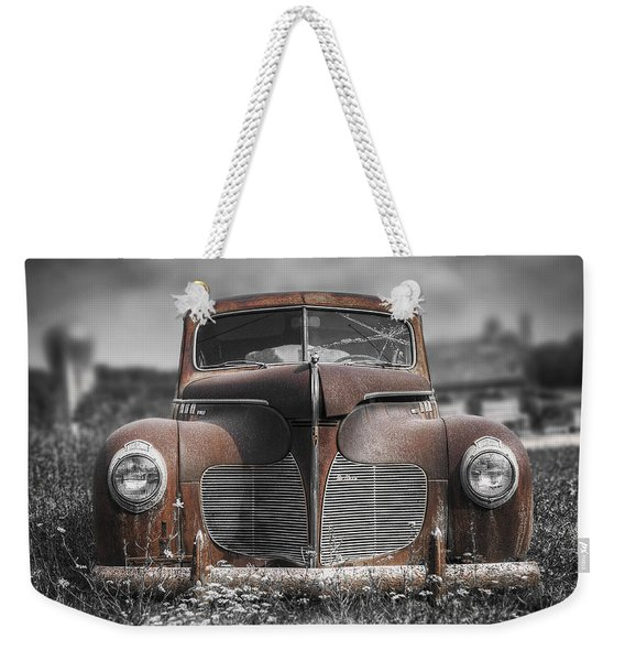 1940 Desoto Deluxe With Spot Color Weekender Tote Bag