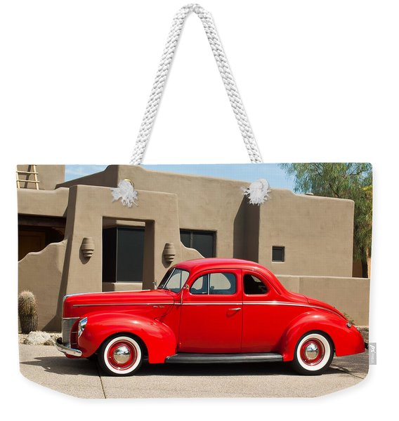 1940 Ford Deluxe Coupe Weekender Tote Bag