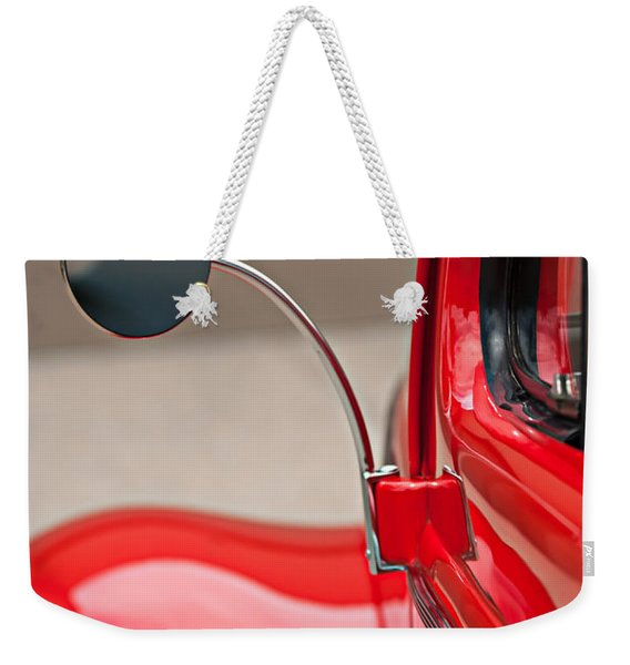 1940 Ford Deluxe Coupe Rear View Mirror Weekender Tote Bag