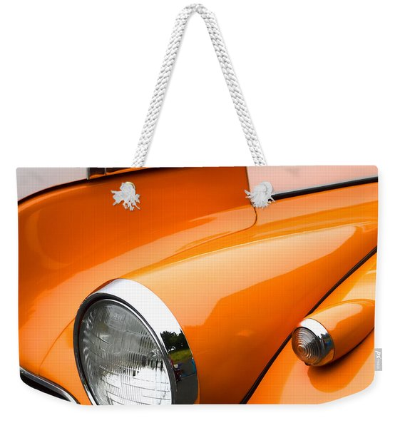 1940 Orange And White Chevrolet Sedan Weekender Tote Bag