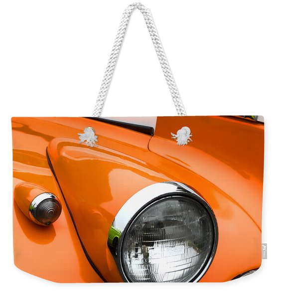 1940 Orange And White Chevrolet Sedan Square Weekender Tote Bag