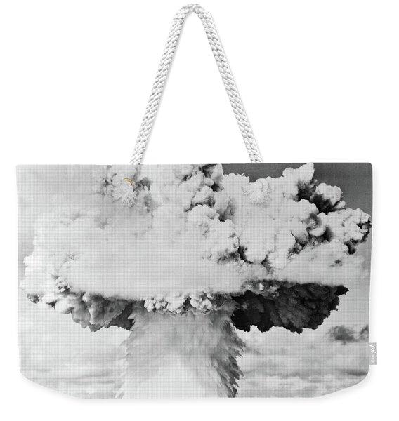 1940s 1950s Atomic Bomb Blast Mushroom Weekender Tote Bag
