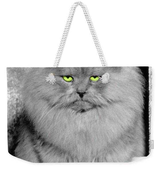 1940s Long Hair Blue Persian Cat Weekender Tote Bag