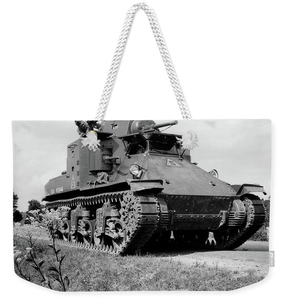 1940s World War II Era Us Army Tank One Weekender Tote Bag