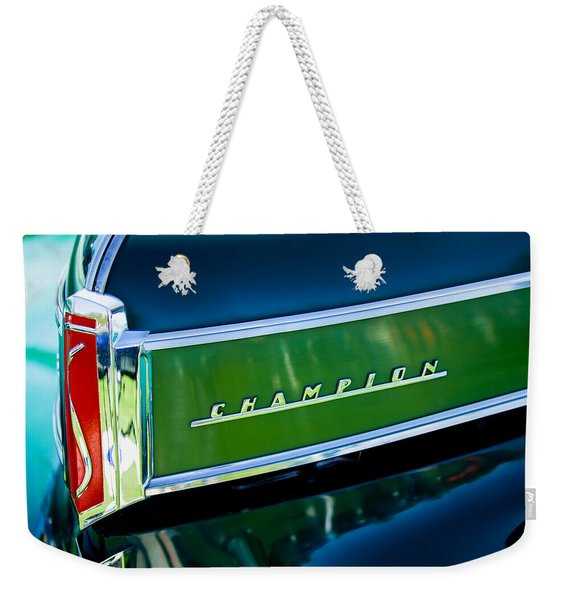 1941 Sudebaker Champion Coupe Emblem Weekender Tote Bag