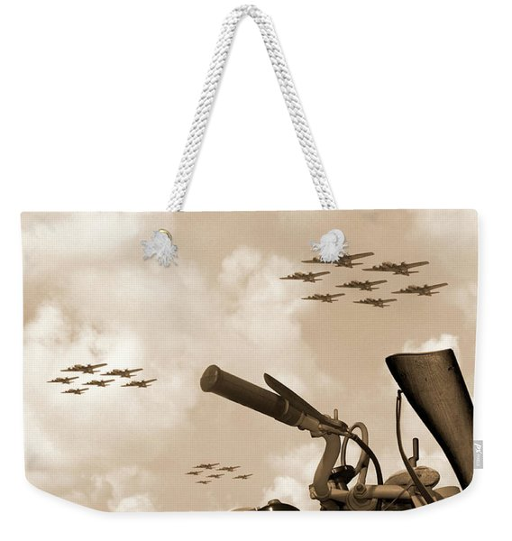 1942 Indian 841 - B-17 Flying Fortress' Weekender Tote Bag