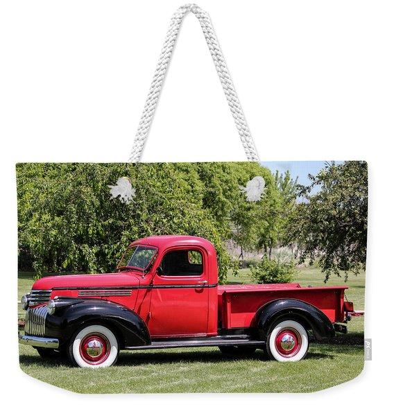 1946 Chevy Pickup Weekender Tote Bag