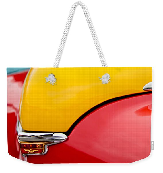 1946 Desoto Skyview Taxi Cab Hood Ornament Weekender Tote Bag