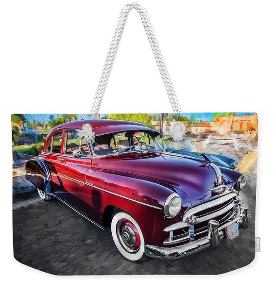1950 Chevrolet Sedan Deluxe Painted  Weekender Tote Bag