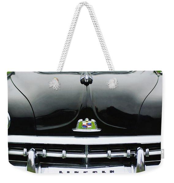 1950 Lincoln Cosmopolitan Henney Limousine Grille Emblem - Hood Ornament Weekender Tote Bag