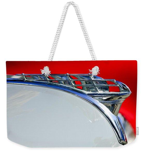 1950 Plymouth Hood Ornament 3 Weekender Tote Bag