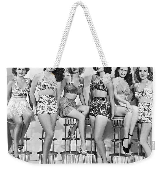 1950s Bathing Suits Weekender Tote Bag