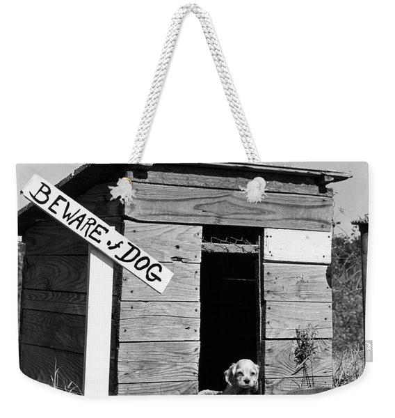 1950s Cocker Spaniel Puppy In Doghouse Weekender Tote Bag