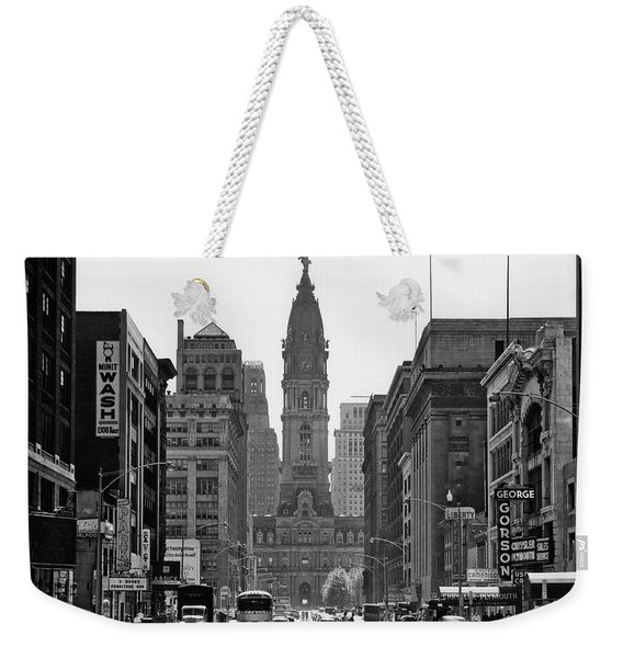 1950s Downtown Philadelphia Pa Usa Weekender Tote Bag