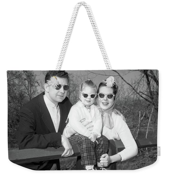 1950s Family Portrait With Sunglasses Weekender Tote Bag