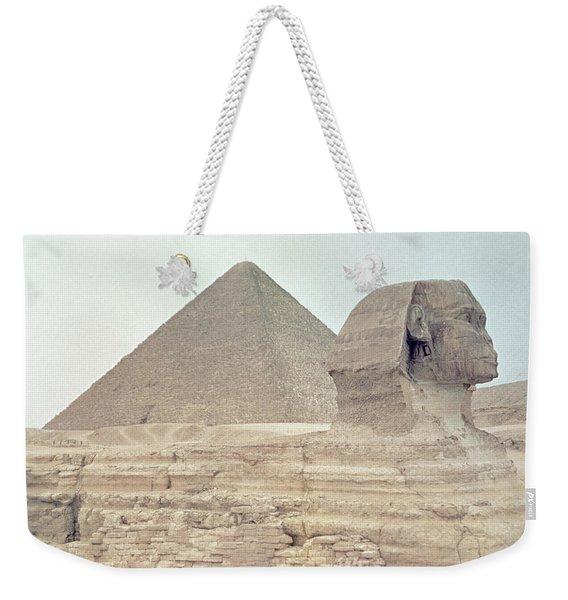 1950s Great Pyramid Of Giza Weekender Tote Bag