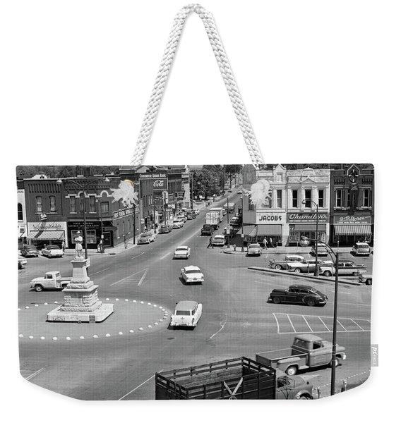 1950s Main Street Of Small Town America Weekender Tote Bag