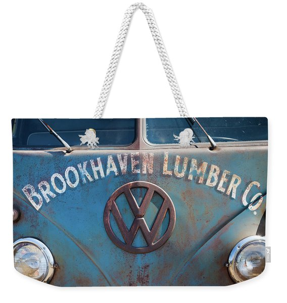 1950s Vw Bus At Antique Car Show, Cape Weekender Tote Bag