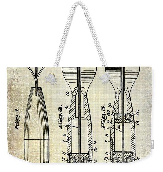 1951 Spinning Bait Patent Drawing Weekender Tote Bag
